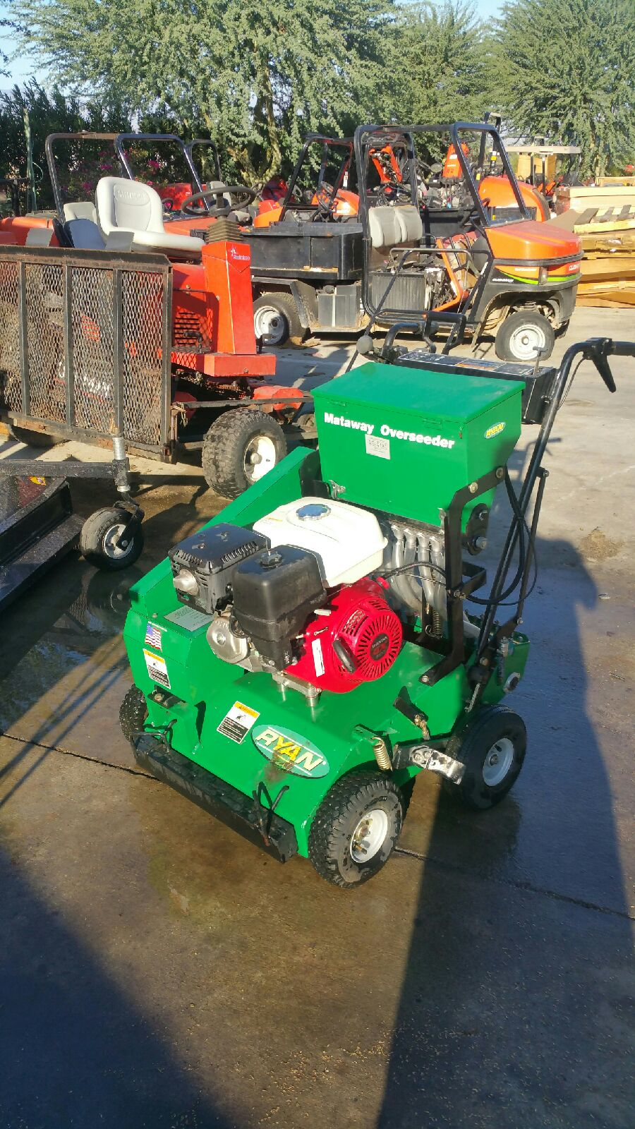 Aerator And Seeder : Used lawn aeration equipment seeder machine for sale